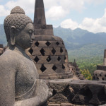 Exposed Buddha at Borobudur – Indonesia