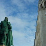 Leif Eriksson statue at Hallgrims Church, Reykjavik – Iceland