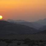 Sunset in the desert, Wadi Rum – Jordan