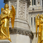 Golden angels at Zagreb Cathedral, Zagreb – Croatia