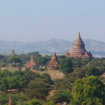 Temples on the Bagan plain, Bagan [Myanmar]